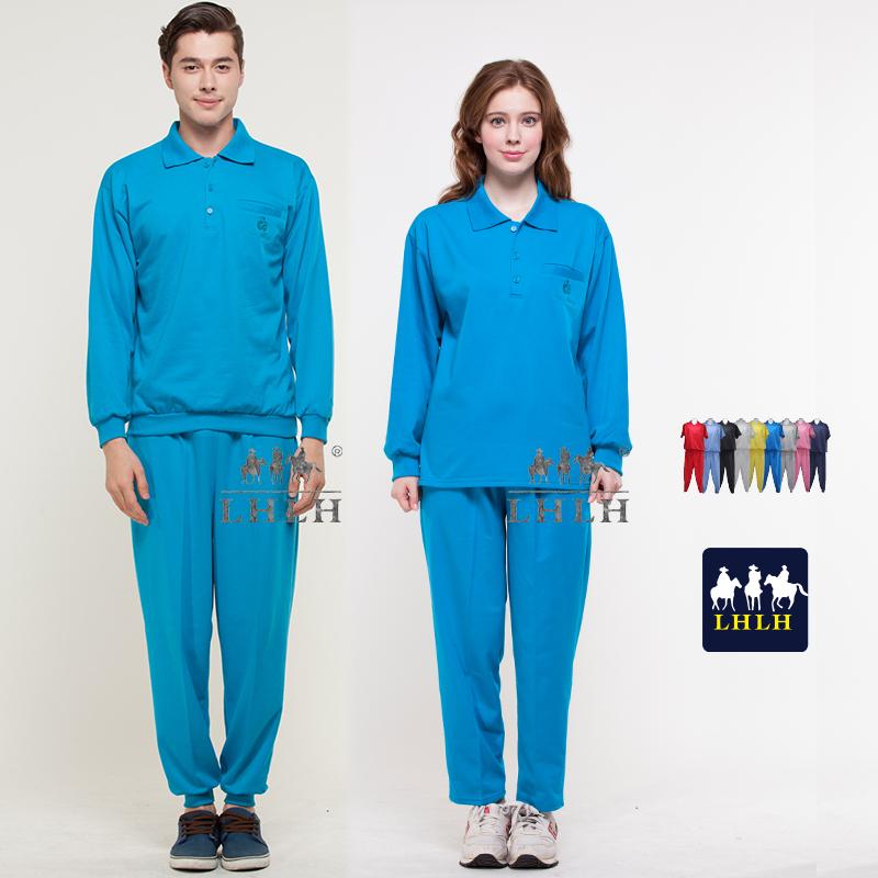 翠藍色套裝母娘色慈惠堂廟會服進香服長袖男生女生Polo衫現貨