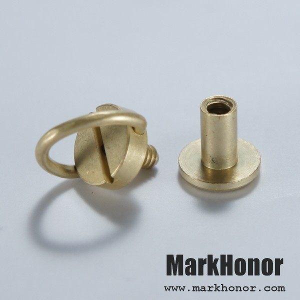 皮帶皮帶頭連接對接手轉螺釘黃銅色-Mark Honor