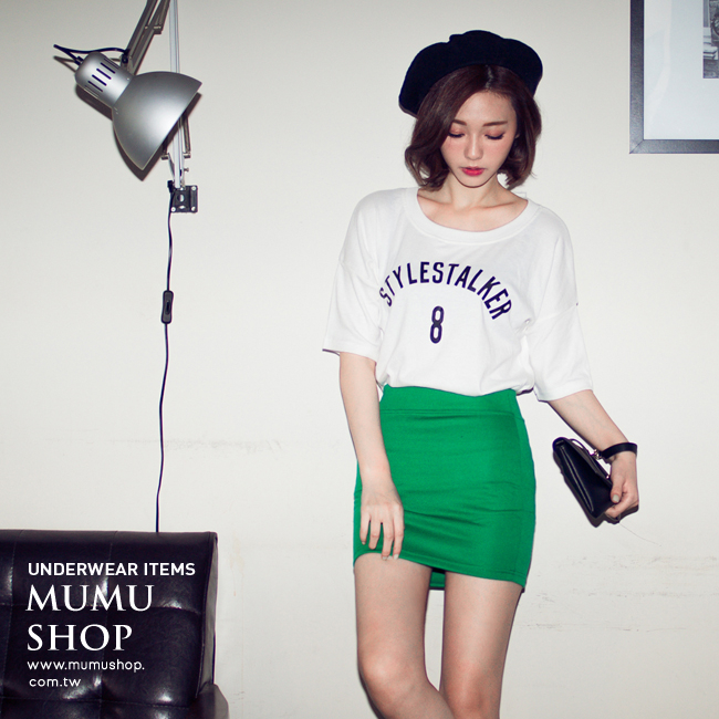 MUMU SHOP【P46879】韓系夏日百搭繽紛多色包臀短裙