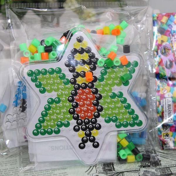 拼拼豆豆套裝 兒童禮物幼兒園DIY手工材料包多款拼圖兒童魔法豆豆─預購CH1022