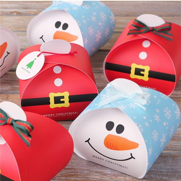 聖誕皮帶雪人慕斯蛋糕盒【X022】平安夜蘋果盒 手提盒 耶誕節包裝 交換禮物 餅乾盒 糖果盒