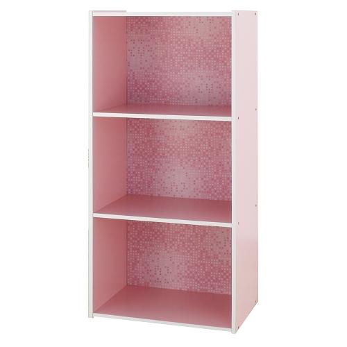 收納書櫃置物櫃展示櫃1030水漾三層收納櫃MIT台灣製粉