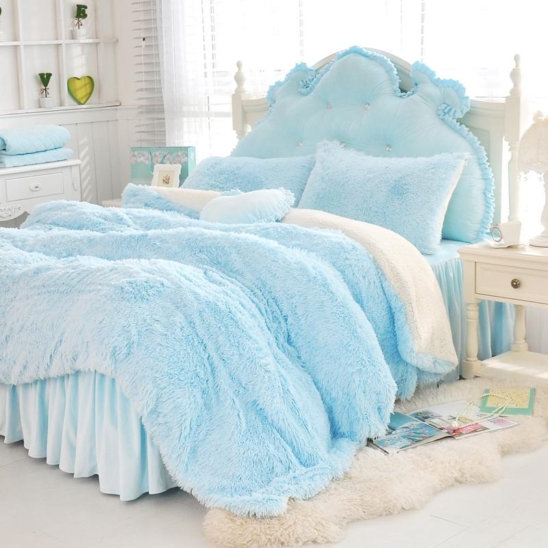 法蘭絨床罩組藍色羊羔絨5尺加絨雙人床包法蘭絨床組兩用被毯ikea訂製刷毛佛你企業