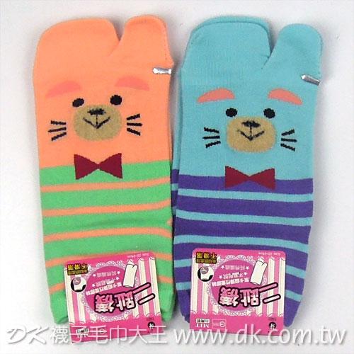 日式 絨熊款 二趾襪 木屐襪 足袋  ~DK襪子毛巾大王