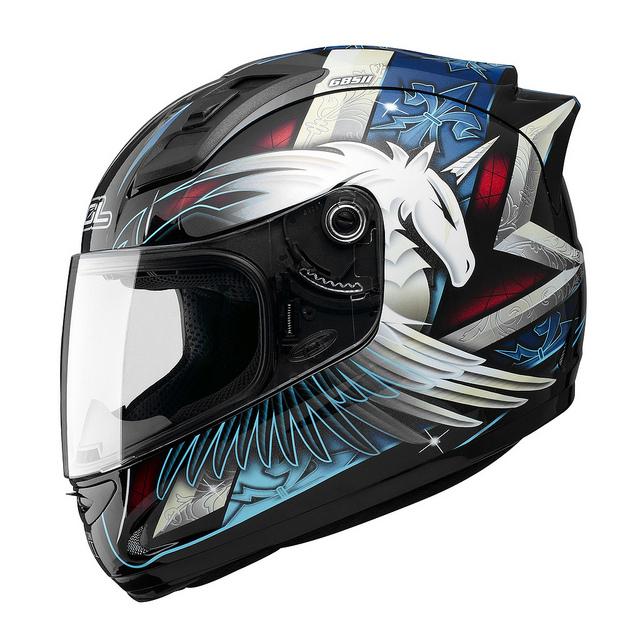 SOL 68Sll獨角獸三代黑藍全罩安全帽69S免運費加贈好禮