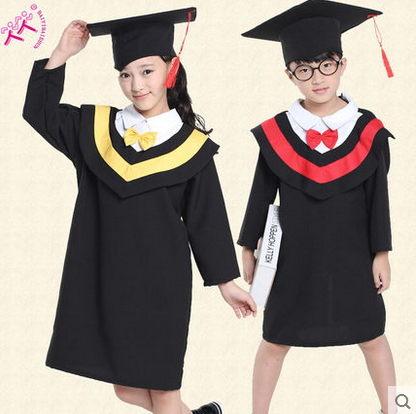 兒童博士服舞蹈演出服幼兒園學士服小學生節日表演服裝送帽子領結130cm