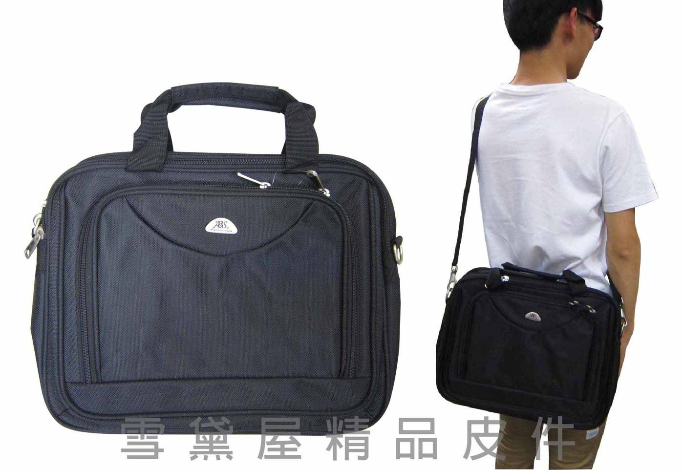 ~雪黛屋~ABS公事包中容量二層主袋360度加大容量設計可手提肩背斜側背防水尼龍可A4資夾02-029