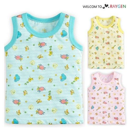 夏季滿版印卡通印花透氣無袖背心 T恤