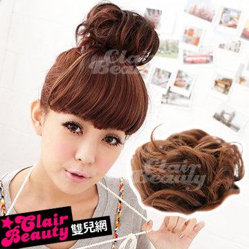 增量型捲捲丸子頭髮束【DH54】QQ丸子包包頭增加髮量用☆雙兒網☆