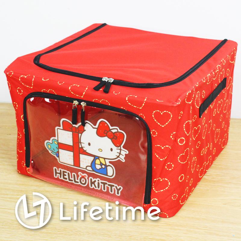 ﹝Kitty老鼠禮物50L折疊收納箱﹞正版不織布折疊收納箱 置物箱 衣物箱〖LifeTime一生流行館〗B01274