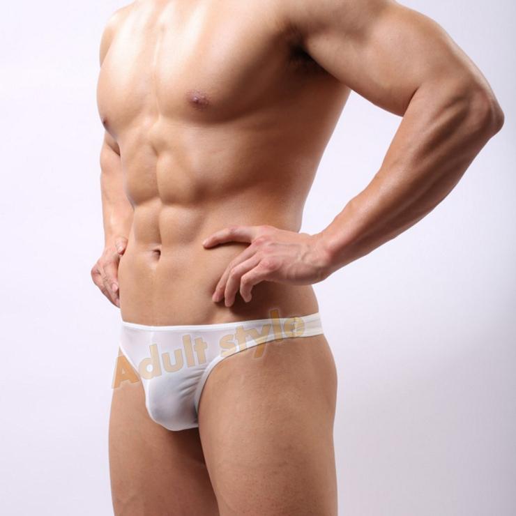 男丁字褲 狂野男孩3D剪裁U凸囊袋丁字褲(白)-XL號《情人節滿千9折》