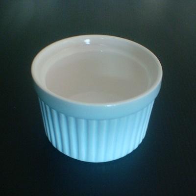 彩瓷布丁蛋糕烤模(水藍色-120ml)/陶瓷器皿/烘焙用品