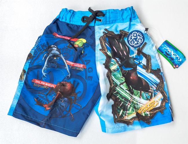 日本夏季全新正版BANDAI甲蟲兒童沙灘褲泳褲短褲~有110公分和130公分00128玩之內
