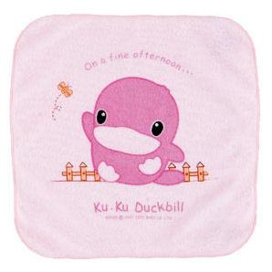 酷咕鴨 KU.KU-多功能抗菌小方巾(25x25cm)(1入)-粉色