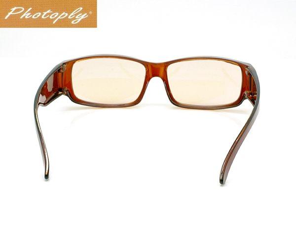 我愛買台灣PHOTOPLY咖啡色防藍光眼鏡吸40藍光100紫外線UV眼鏡適螢幕電視智慧手機遊戲