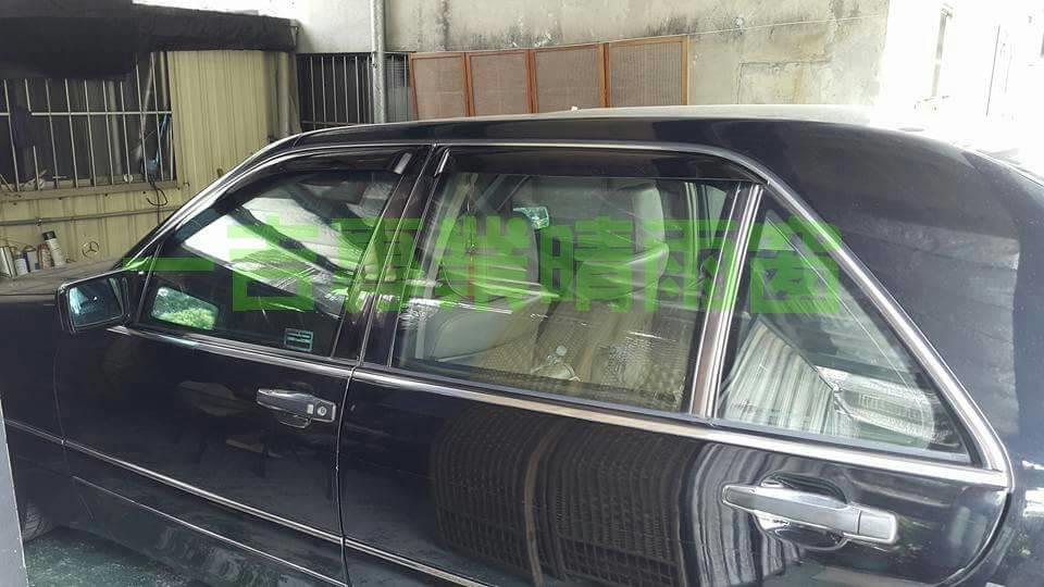 一吉91-98年賓士W140舊S系列外銷日本原廠型晴雨窗W140晴雨窗W140晴雨窗S320晴雨窗