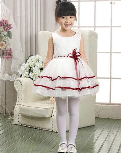 俏魔女美人館2014新款秋高檔韓國女童公主裙兒童婚紗禮服花童蓬蓬裙白色禮服裙