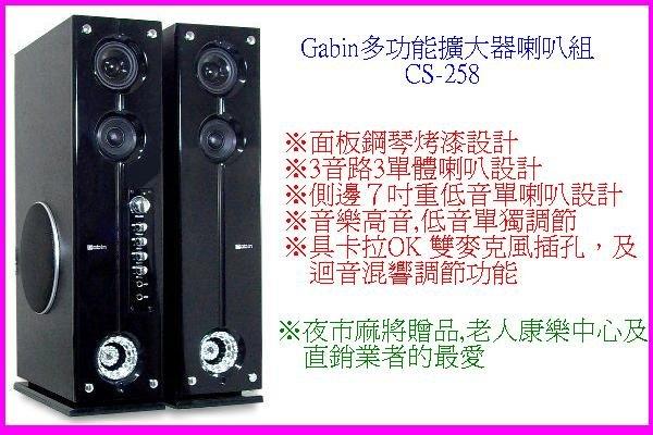 中彰投電器Gabin多功能擴大器喇叭組CS-258全館刷卡分期免運費卡拉OK雙麥克風插孔