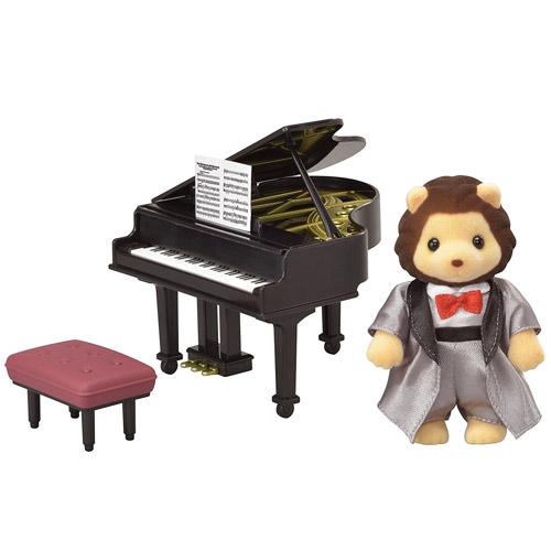 森林家族人偶TOWN鋼琴演奏獅子