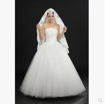 新娘頭紗國色傾城超長新款結婚頭紗 蕾絲花邊婚紗頭紗禮服配飾-108792002