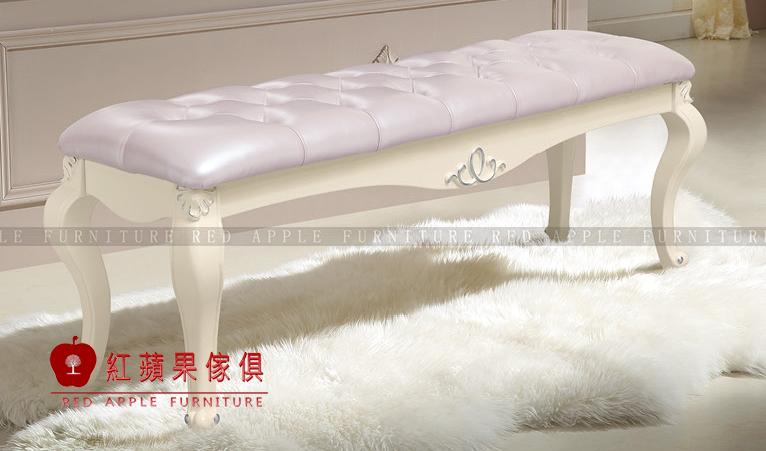 [紅蘋果傢俱] 6655  歐式系列 床尾凳 床尾椅 雕刻雕花 矮凳 穿鞋凳  高檔 奢華