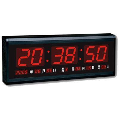 奇奇文具鋒寶電子日曆FB-4819電子鐘簡單數字時鐘萬年曆時鐘LED高級環保電腦萬年曆