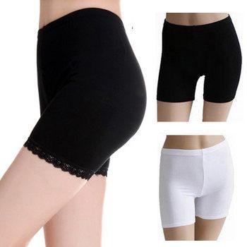 韓版冰絲防走光三分內搭安全褲平口蕾絲兩色