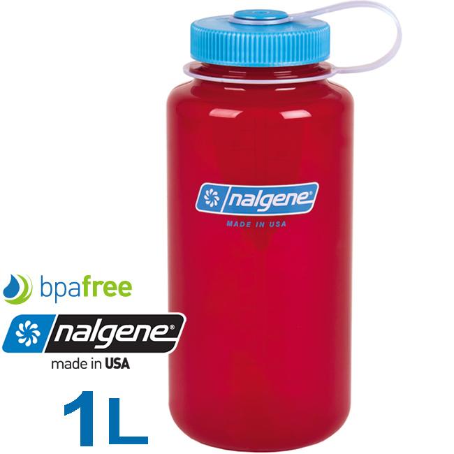 Nalgene 2178-2032莓紅1000ml寬嘴運動水壺