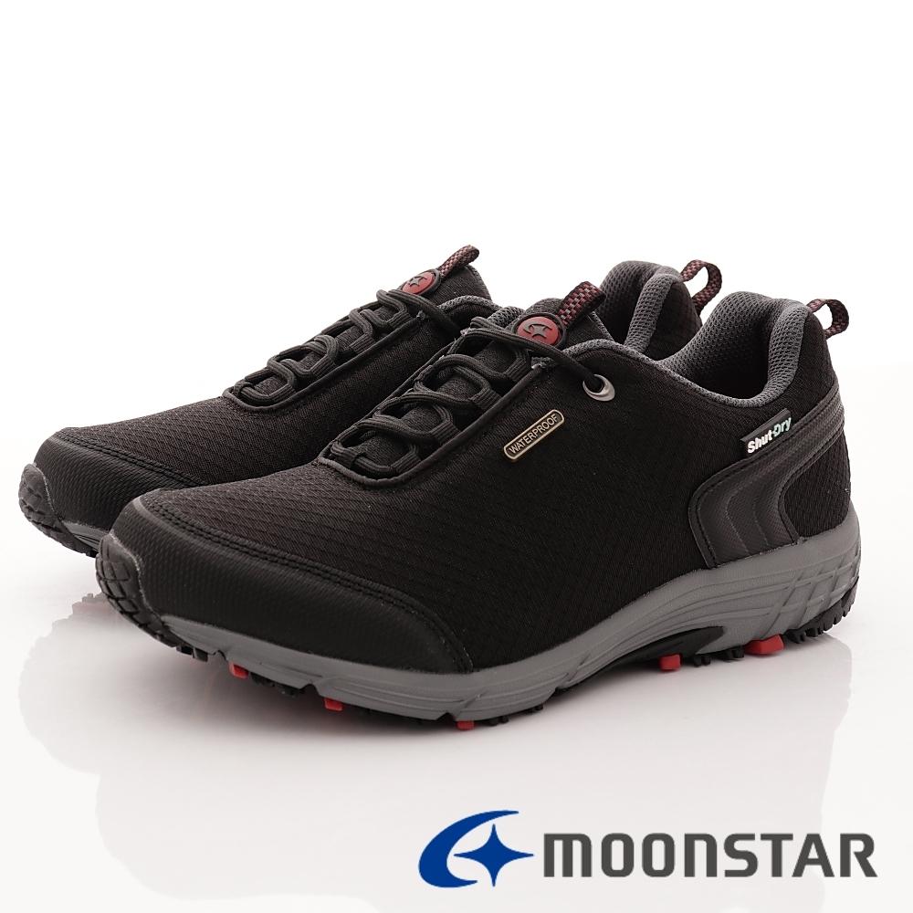 日本Moonstar機能鞋 4E戶外多功能抗菌鞋款-DM026黑(男段)