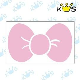 【收藏天地】防水防曬*安全帽 汽機車 浮雕貼紙-小蝴蝶結(2色)