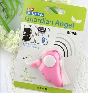【TT303】美女安全必備 尖叫天使的翅膀防狼器個人報警器 防身器防盜器