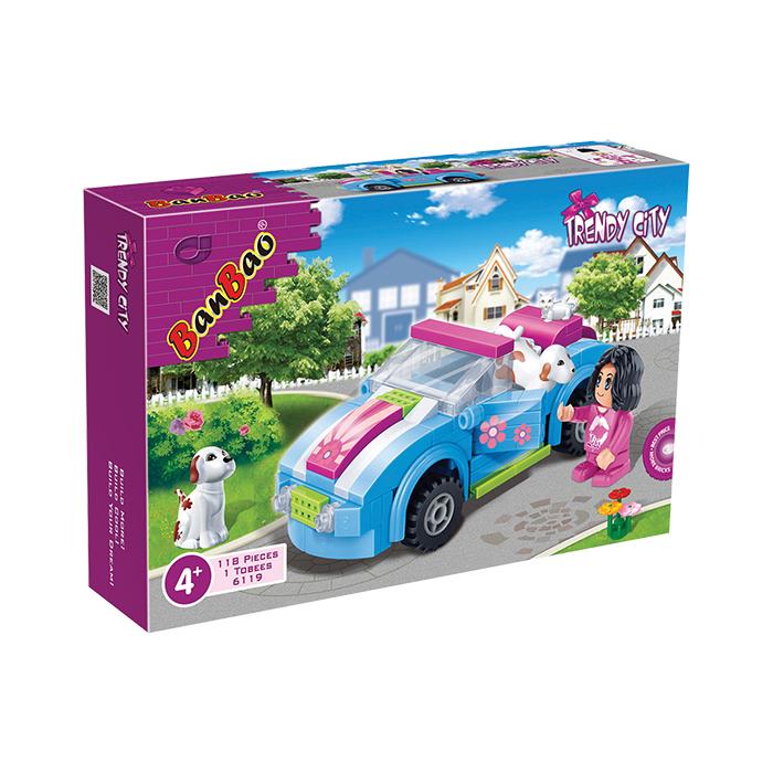 樂園系列NO.6119遊園車與樂高Lego相容BanBao邦寶積木楚崴