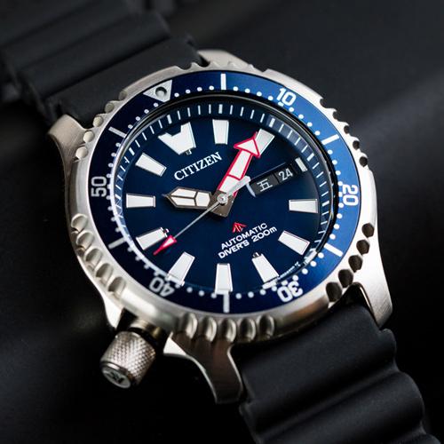 CITIZEN 星辰 NY0081-10L 悠遊歷險機械錶/藍 自動上鍊 水鬼錶 公司貨保固 熱賣中!