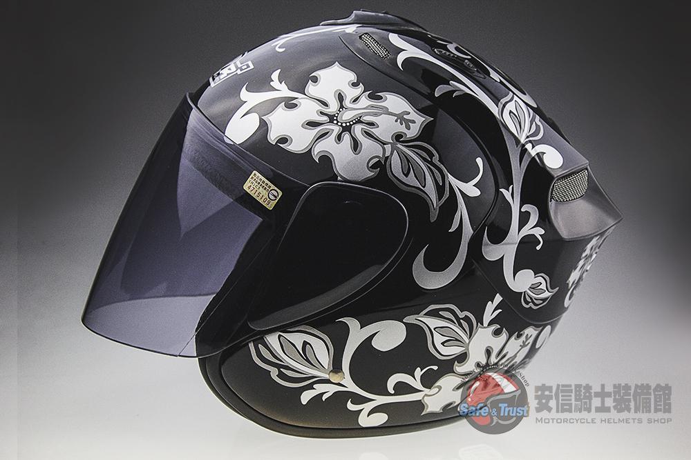 中壢安信M2R 318 2黑銀半罩安全帽