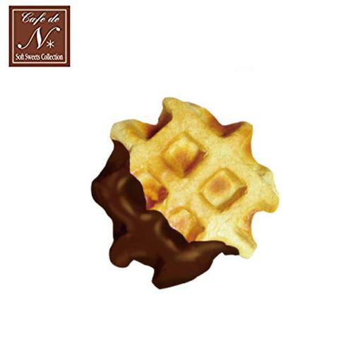 巧克力款日本進口格子鬆餅捏捏吊飾吊飾捏捏樂軟軟CAFE DE N SQUISHY 618245