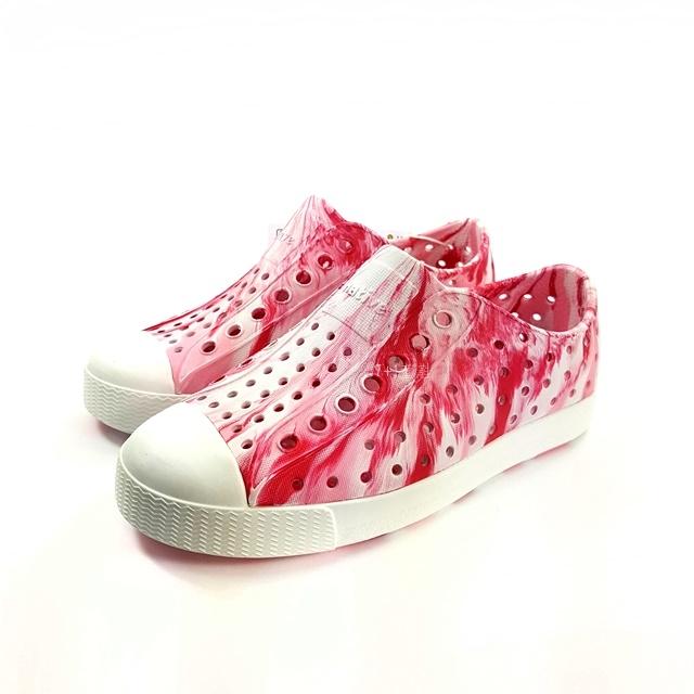 小童 Native  JEFFERSON  MARBLED 防水洞洞懶人休閒鞋《7 1童鞋》6041粉色