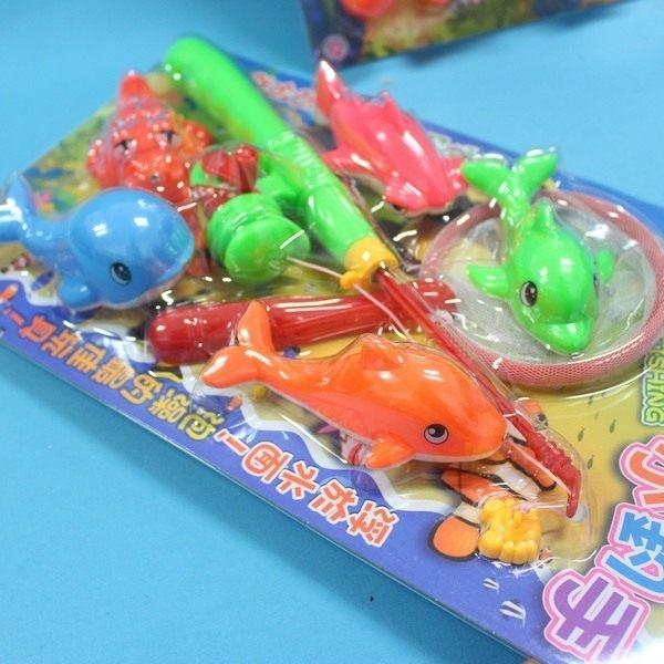 日系釣魚組戲水童玩釣魚樂D-589小釣手釣釣樂7件裝一卡入促150~生