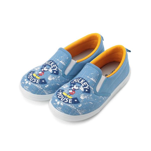 DISNEY 米奇經典套式帆布鞋 藍 中大童鞋 鞋全家福