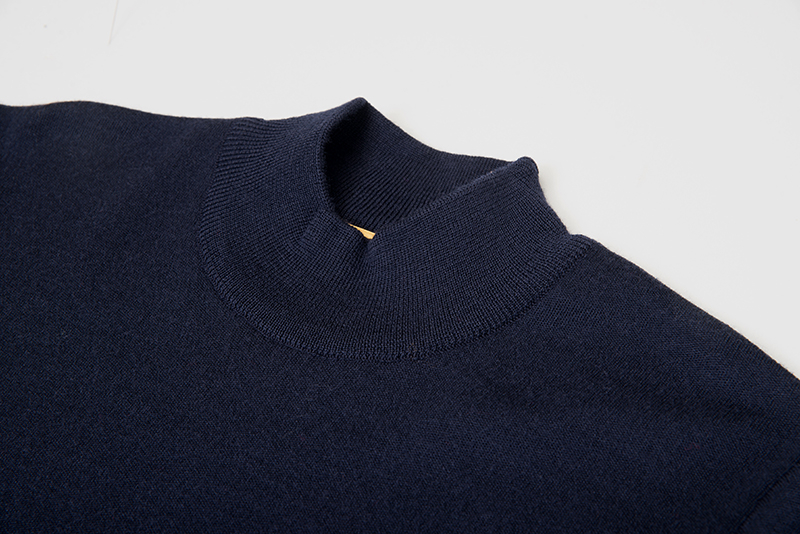 男士 針織毛衣 防縮 半高領毛衣  純羊毛衣 三燕牌羊毛上衣 美麗諾羊毛 100%純羊毛 7973-1 半高 丈青