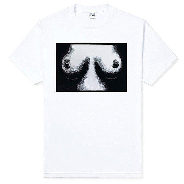 Seditionaries-Tits短袖T恤-白色 胸部趣味幽默punk