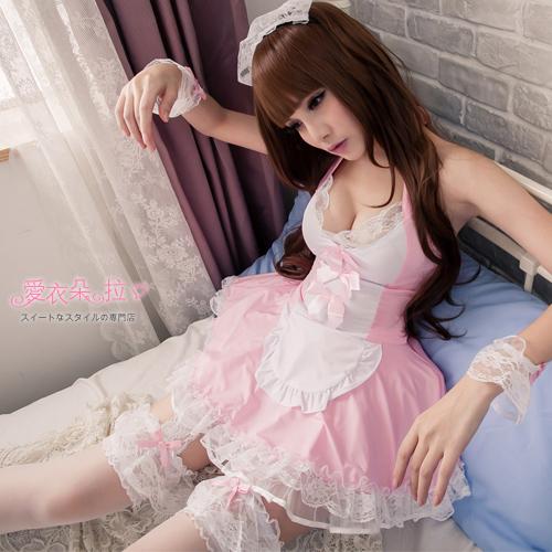 女僕裝XXL加大尺碼女僕蕾絲洋裝角色扮演萌系制服美背連身裙-愛衣朵拉