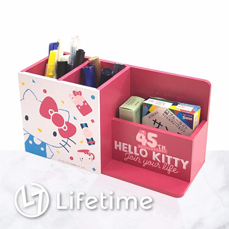 ﹝Kitty45週年繽紛筆筒盒﹞正版收納盒 筆筒 置物盒 凱蒂貓〖LifeTime一生流行館〗