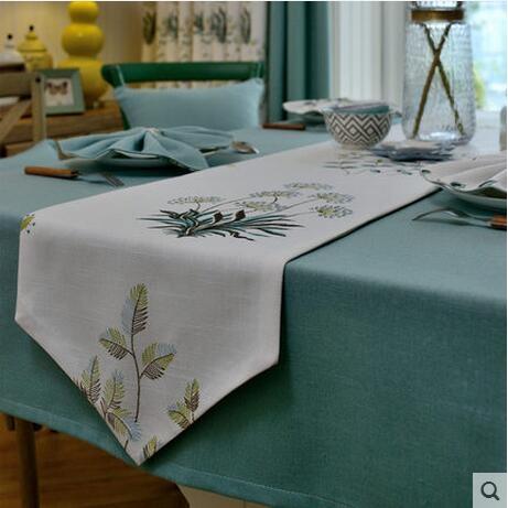 餐桌墊布藝茶几桌布西餐廳桌旗棉麻歐式桌旗