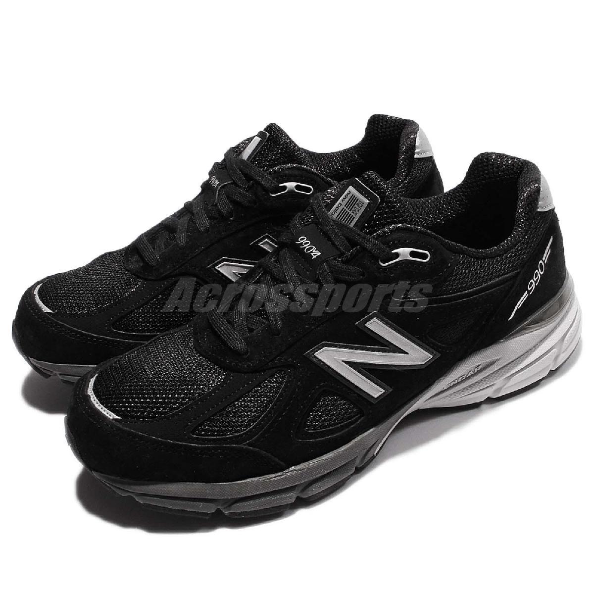 New Balance 慢跑鞋 990 NB 黑 灰 麂皮 寬楦 美國製 運動鞋 男鞋【PUMP306】 M990BK42E