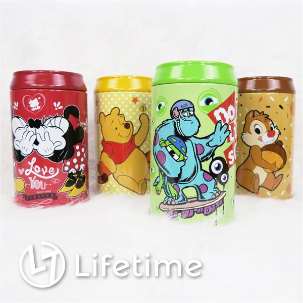 ﹝迪士尼可樂罐型存錢筒﹞正版儲錢罐 收納筒 可樂罐 米奇 米妮 維尼 毛怪〖LifeTime一生流行館〗