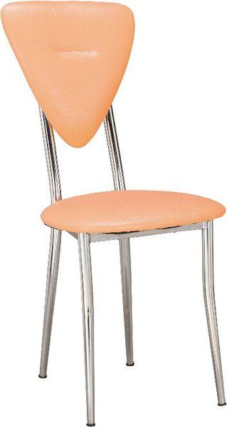 HY-Y313-2  心巧餐椅(橘黃/電鍍)