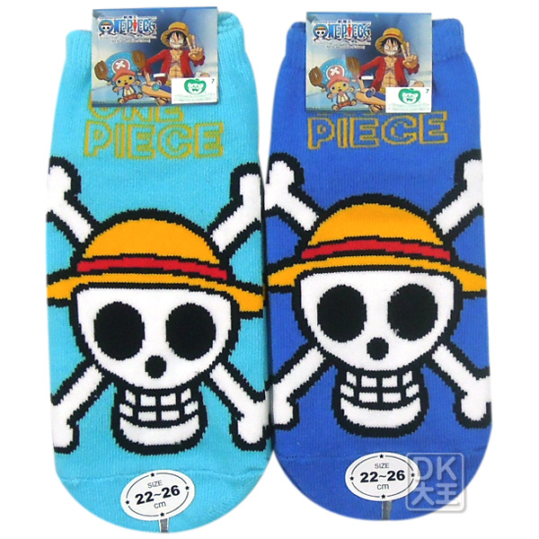 航海王(海賊王) 魯夫骷髏成人直板襪 OPS04A ~DK襪子毛巾大王