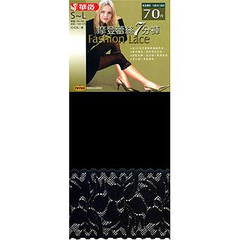 華貴, 女性七分褲襪, 70丹尼數摩登蕾絲美型 款 - 普若Pro品牌好襪子專賣館