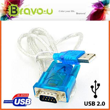 Bravo-u USB 2.0-RS232 9-pin高速數據傳輸線