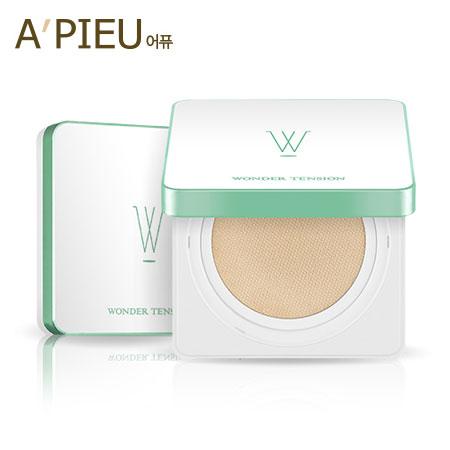 韓國A'PIEU Wonder Tension奇蹟方型氣墊粉底霜13g敏感肌氣墊粉餅A pieu APIEU